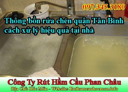 Thông bồn rửa chén quận Tân Bình và cách xử lý hiệu quả tại nhà