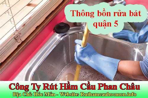 Thông bồn rửa bát quận 5