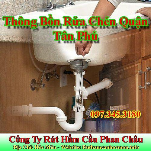 Thông bồn rửa chén Quận Tân Phú 30% giá bảo hành 12 tháng