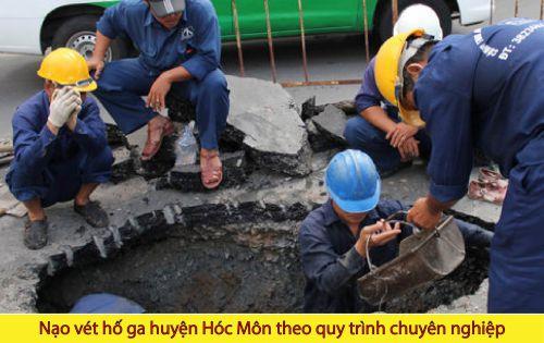 Nạo vét hố ga huyện Hóc Môn theo quy trình chuyên nghiệp