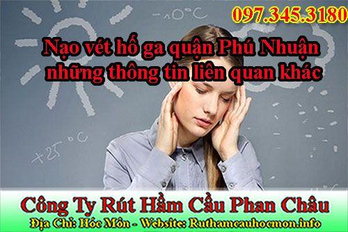 Nạo vét hố ga quận Phú Nhuận giá rẻ bảo hành 7 năm, chiết khấu 25%