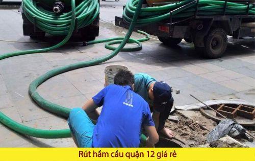Rút hầm cầu quận 12 giá cả tại Phan Châu cao không ?