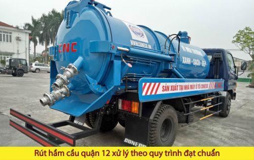 Rút hầm cầu quận 12 Phan Châu xử lý theo quy trình đạt chuẩn