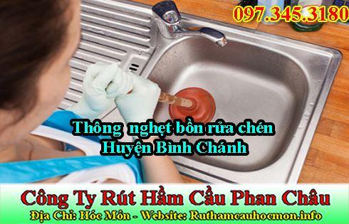 Thông bồn rửa chén huyện Bình Chánh 50k giảm 25%