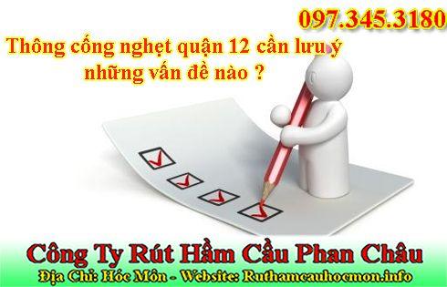 Thông cống nghẹt quận 12 Phan Châu 49k BH 12 tháng