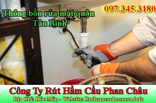 Thông bồn rửa mặt quận Tân Bình giá rẻ 69k BH 3 năm