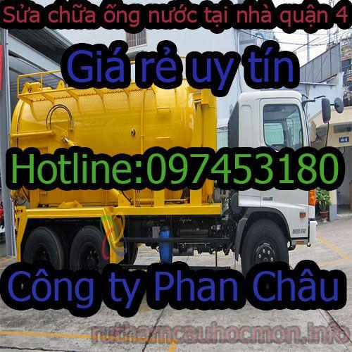 Sửa ống nước tại nhà quận 4 Phan Châu giá rẻ BH 1 năm