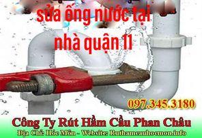 Sửa ống nước tại nhà quận 11 Phan Châu giá rẻ ưu đãi lớn