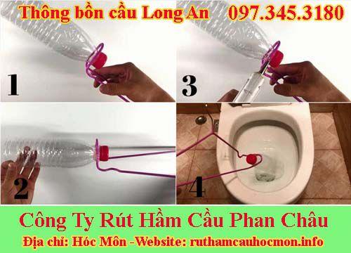 Thông bồn cầu Long An Phan Châu giảm 89k BH 24 tháng