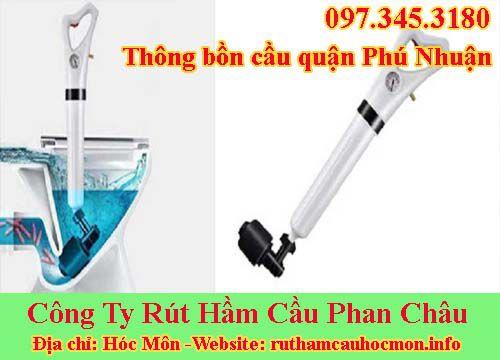 Thông bồn cầu quận Phú Nhuận giảm giá 56k BH 24 tháng