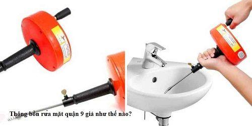 Thông bồn rửa mặt quận 9 giá như thế nào?
