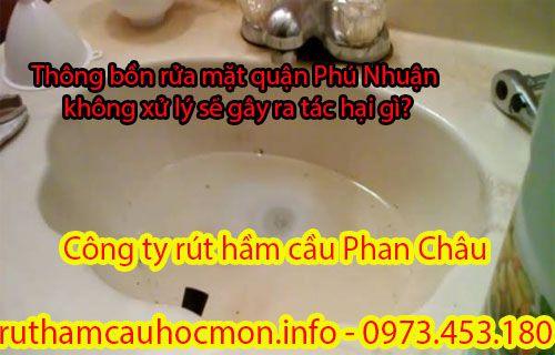 Thông bồn rửa mặt quận Phú Nhuận hậu quả khi bị tắc nghẽn