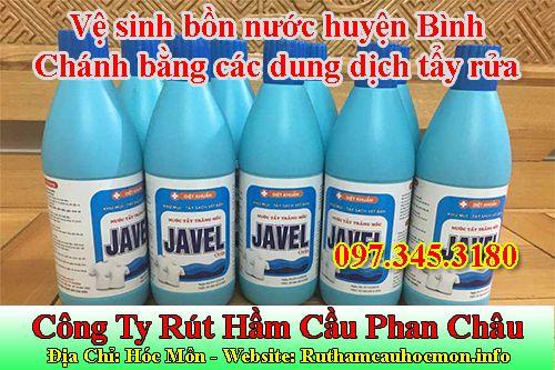 Vệ sinh bồn nước huyện Bình Chánh bằng các dung dịch tẩy rửa