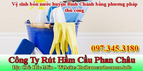 Vệ sinh bồn nước huyện Bình Chánh bằng phương pháp thủ công