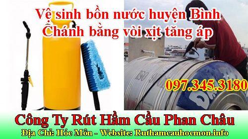 Vệ sinh bồn nước huyện Bình Chánh bằng vòi xịt tăng áp
