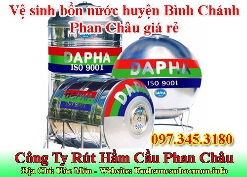 Vệ sinh bồn nước huyện Bình Chánh Phan Châu giá rẻ