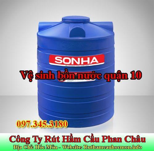 Vệ sinh bồn nước quận 10 Phan Châu rẻ sạch 100% BH 1 năm