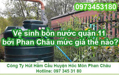 Bảng giá làm sạch bồn nước của công ty Phan Châu?