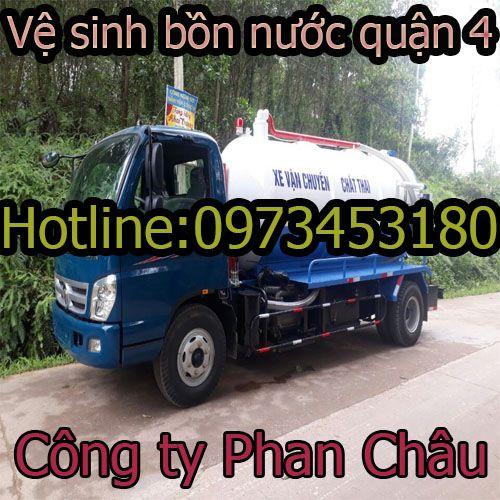 Vệ sinh bồn nước quận 4 Phan Châu nhanh rẻ, uy tín BH 2 năm