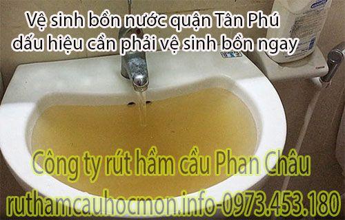 Vệ sinh bồn nước quận Tân Phú dấu hiệu nước bị nhiễm bẩn