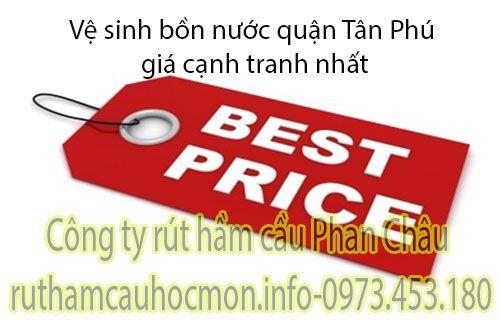 Vệ sinh bồn nước quận Tân Phú giá mới nhất tại Phan Châu