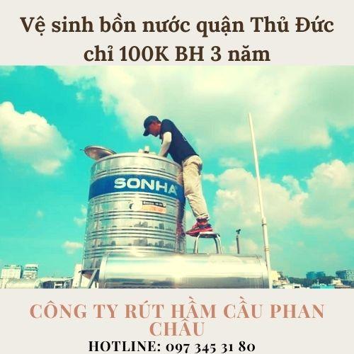 Vệ sinh bồn nước quận Thủ Đức Phan Châu có uy tín không ?