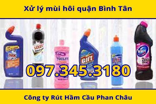 Xử lý mùi hôi bằng các loại dung dịch tẩy rửa