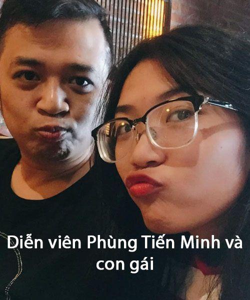 Diễn viên Phùng Tiến Minh và con gái
