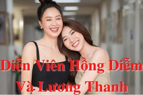 Diễn viên Hồng Diễm và Lương Thanh