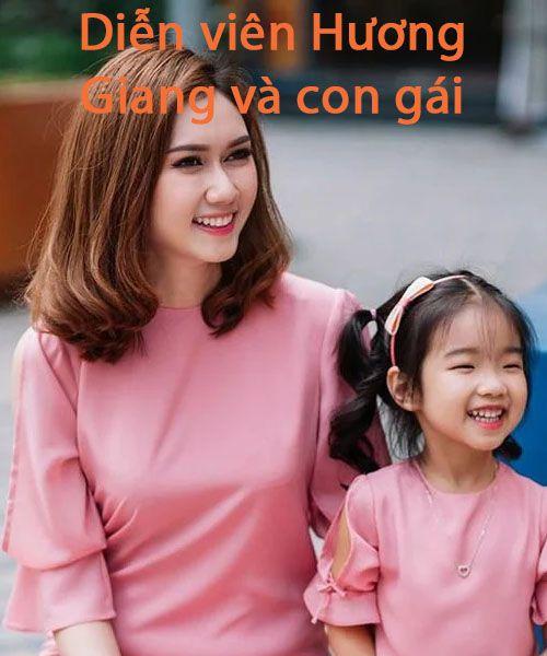 Diễn viên Hương Giang và con gái