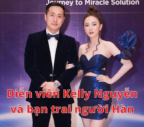 Diễn viên Kelly Nguyễn và bạn trai người Hàn